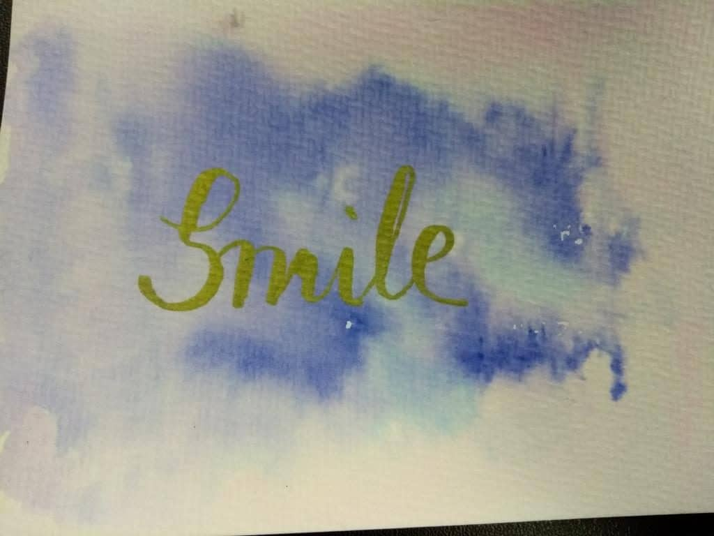 Handbrush Lettering Smile