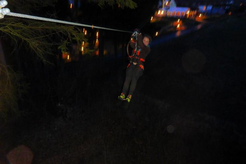 Ziplining by night in der Eifel (Berlingen)
