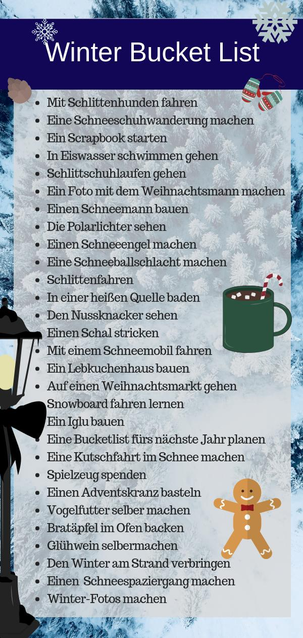 Winter Bucketlist zum Download