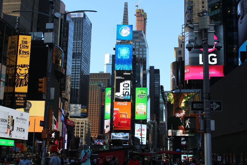 Mitten auf dem Times Square in New York