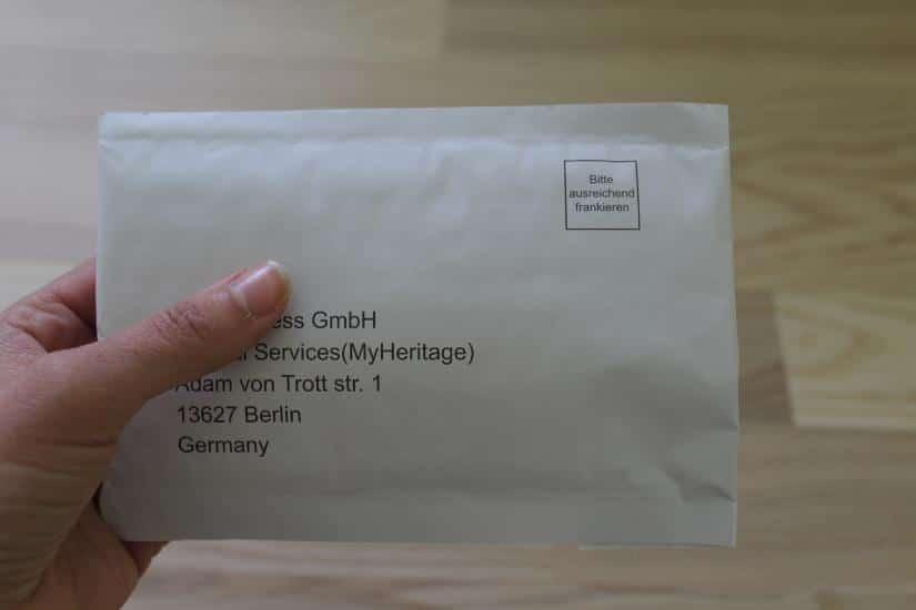 Brief mit DNA-Proben